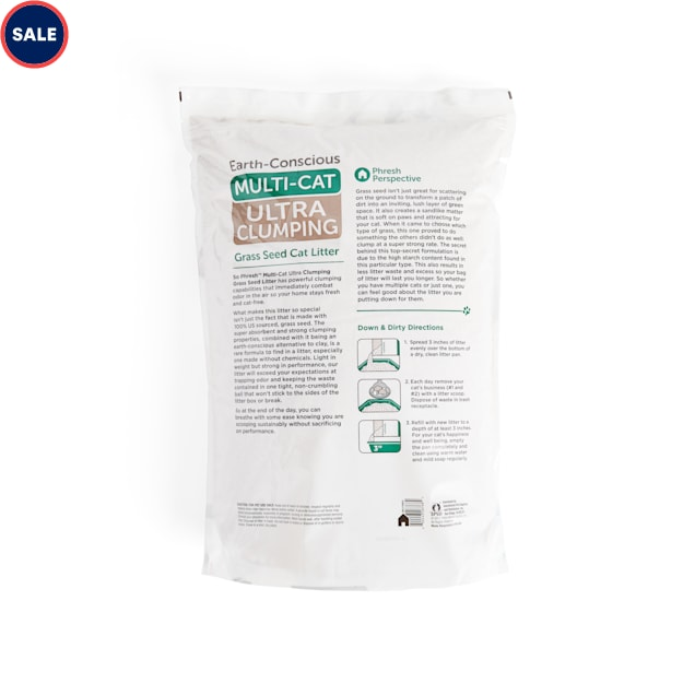 So Phresh Extreme Clumping Unscented Grass Seed Cat Litter, 20 lbs. - Carousel image #1