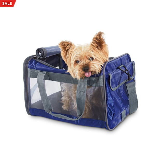 Good2Go Basic Pet Carrier in Navy, 17.75 L x 10.73 W x 10.5 H - Carousel image #1