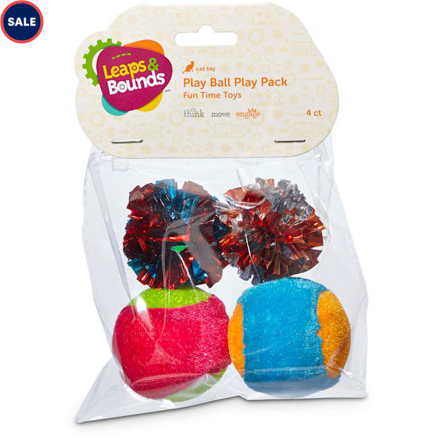 Leaps & Bounds Ball Cat Toy Variety Pack, 4 CT - Carousel image #1