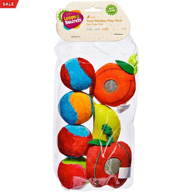 Leaps & Bounds Fruit Cat Toy Variety Pack, 7 CT - Carousel image #1