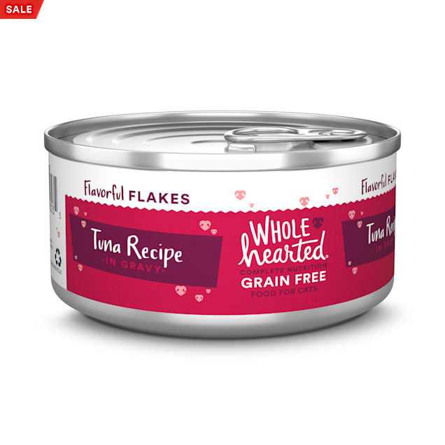 WholeHearted Grain Free Tuna Recipe Flaked in Gravy All Life Stages Wet Cat Food, 5.5 oz., Case of 12 - Carousel image #1