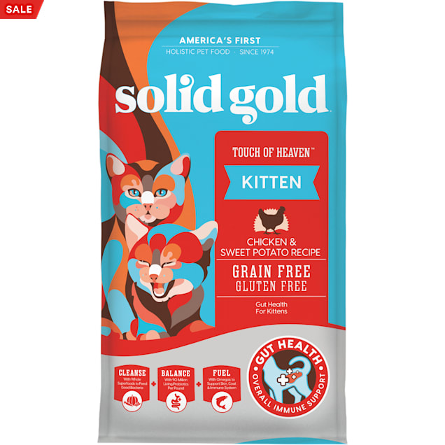 Solid Gold Touch of Heaven Chicken & Sweet Potato Natural, Holistic Grain Free Kitten Food With Superfoods, 6 lbs. - Carousel image #1
