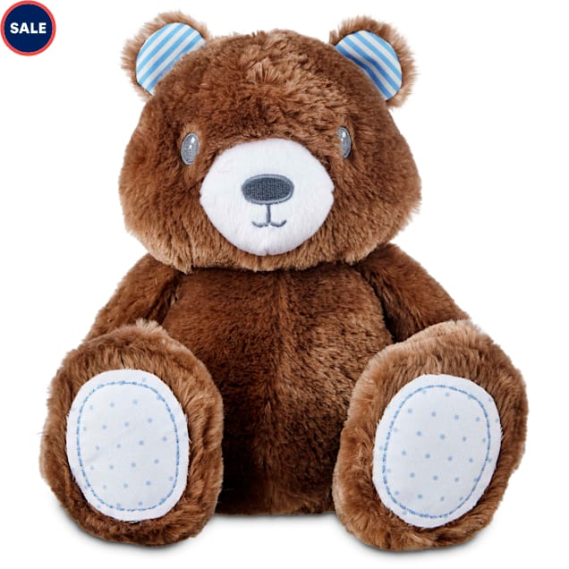 """Leaps & Bounds Little Loves Teddy Bear Puppy Plush Toy, 9"""" - Carousel image #1"""