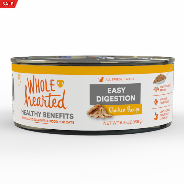 WholeHearted Easy Digestion Chicken Recipe Adult Wet Cat Food, 5.5 oz., Case of 24 - Carousel image #1