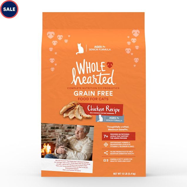 WholeHearted Grain Free Senior Chicken Recipe Dry Cat Food, 12 lbs. - Carousel image #1