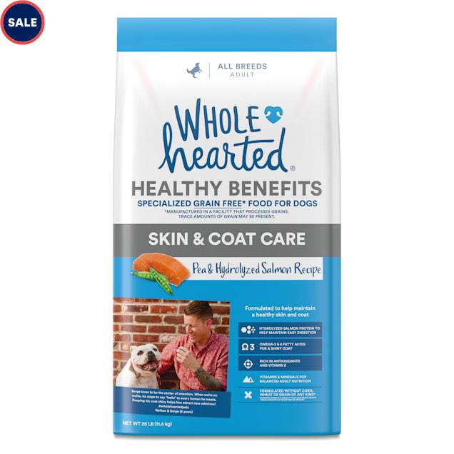 WholeHearted Grain Free Skin and Coat Care Pea and Salmon Recipe Dry Dog Food, 25 lbs. - Carousel image #1