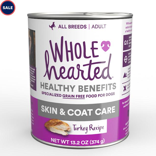 WholeHearted Skin & Coat Care Turkey Recipe Wet Dog Food, 13.2 oz., Case of 12 - Carousel image #1
