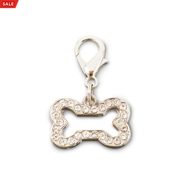 Bond & Co. Bling Bone Dog Collar Charm, Small - Carousel image #1