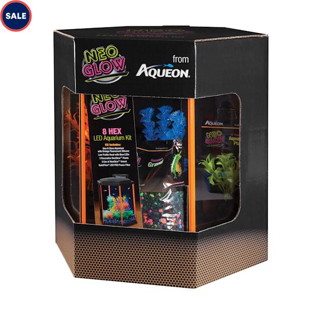 Aqueon LED Aquarium Kit Orange NeoGlow, 8 Gallon - Carousel image #1