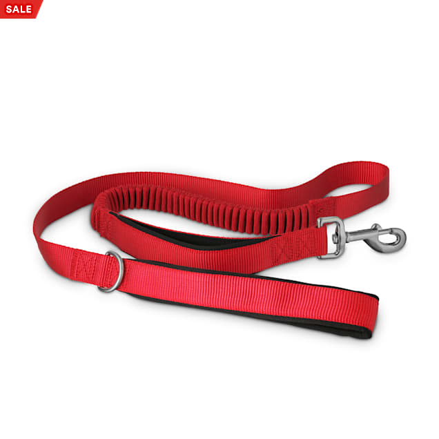 Good2Go Red Shock Absorbing Dog Leash, 5 ft. - Carousel image #1