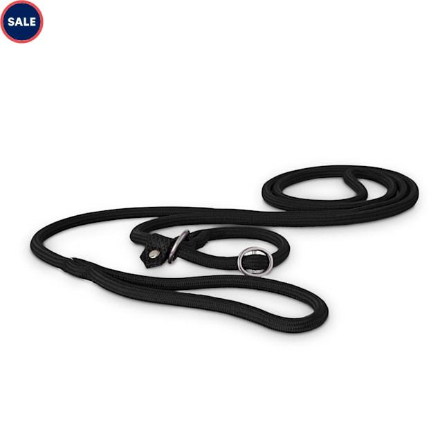 Good2Go Black Nylon Rope Dog Slip Leash, 6 ft. - Carousel image #1