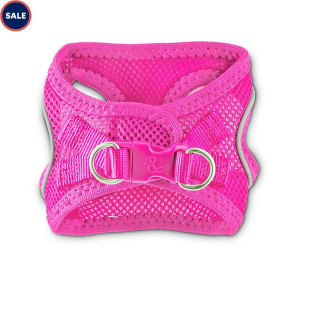 Bond & Co. Reflective Pink Mesh Dog Harness, XX-Small/X-Small - Carousel image #1