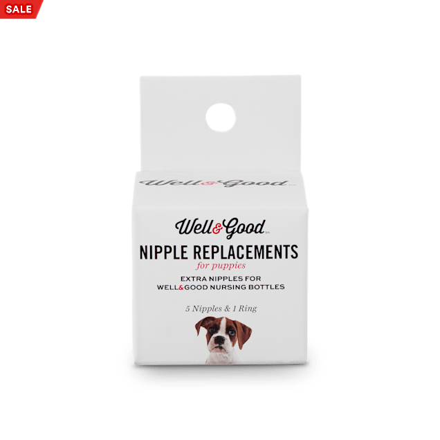 Well & Good Replacement Puppy Bottle Nipple Kit, 0.035 lb. - Carousel image #1