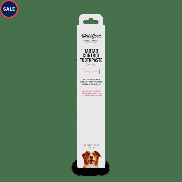 Well & Good Vanilla Flavored Tartar Control Dog Toothpaste, 3.25 oz. - Carousel image #1