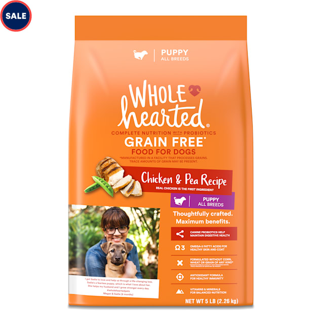 WholeHearted Grain Free Chicken and Pea Recipe Dry Puppy Food, 25 lbs. - Carousel image #1