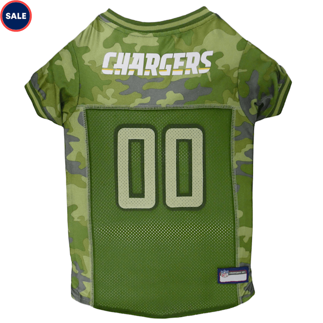 Pets First Los Angeles Chargers Camo Jersey, X-Small - Carousel image #1