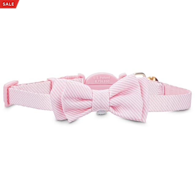 Light Blue Cat Bow Tie Collar- Cotton Cat Collar with Bow Tie Safety BuckleBreakaway Cute Sushi Fun Cat Bow Tie Collar