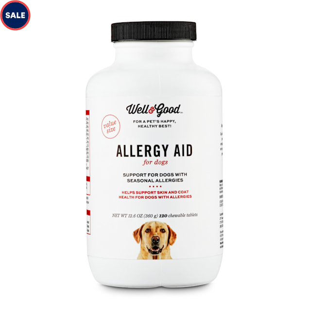 Well & Good Dog Allergy Aid Chewable Tablets, 12.6 oz., Count of 120 - Carousel image #1