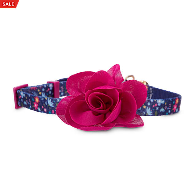 Bond & Co. Pink Blooming Blossom Cat Collar - Carousel image #1