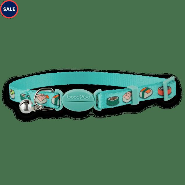 Good2Go Aqua Soy Awesome Breakaway Cat Collar - Carousel image #1