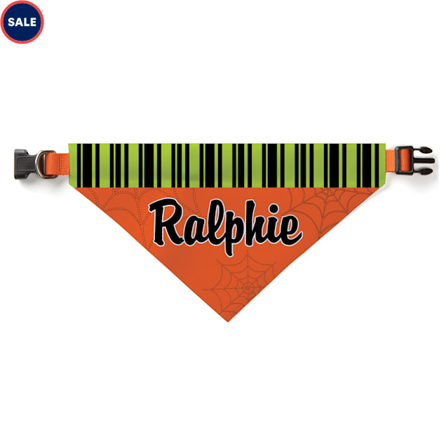 Custom Personalization Solutions Personalized Spooky Pooch Dog Bandana Collar Cover - Carousel image #1