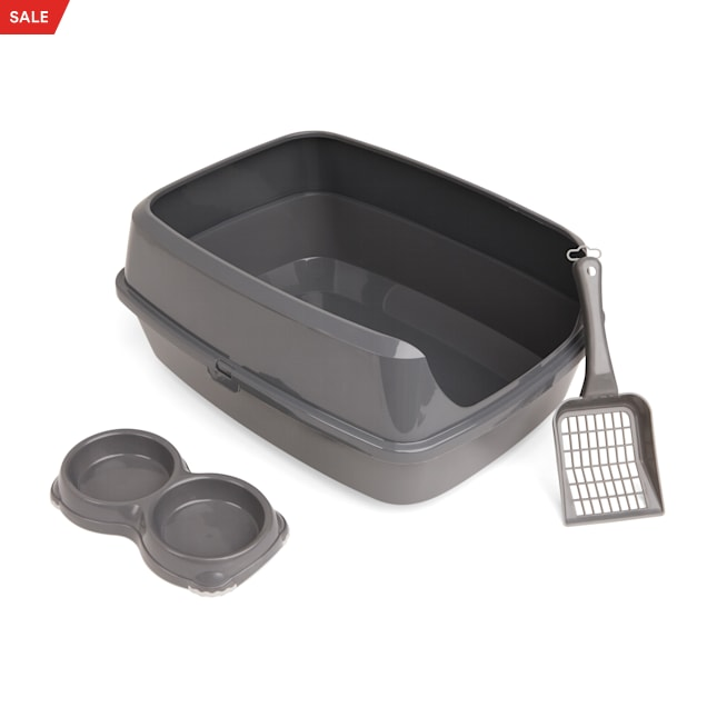 "So Phresh Grey Litter Box Starter Bundle, 19.5"" L X 14.75"" W X 4.25"" H - Carousel image #1"