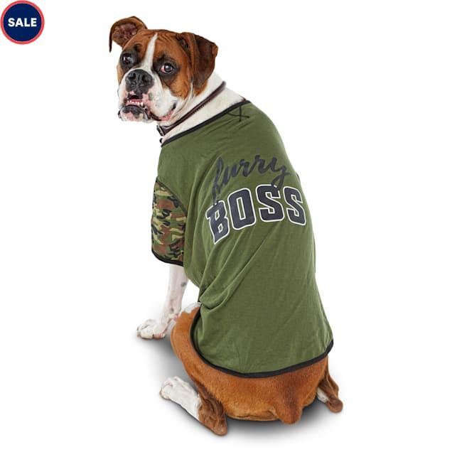 Bond & Co. Furry Boss Camo Dog T-shirt, Large - Carousel image #1