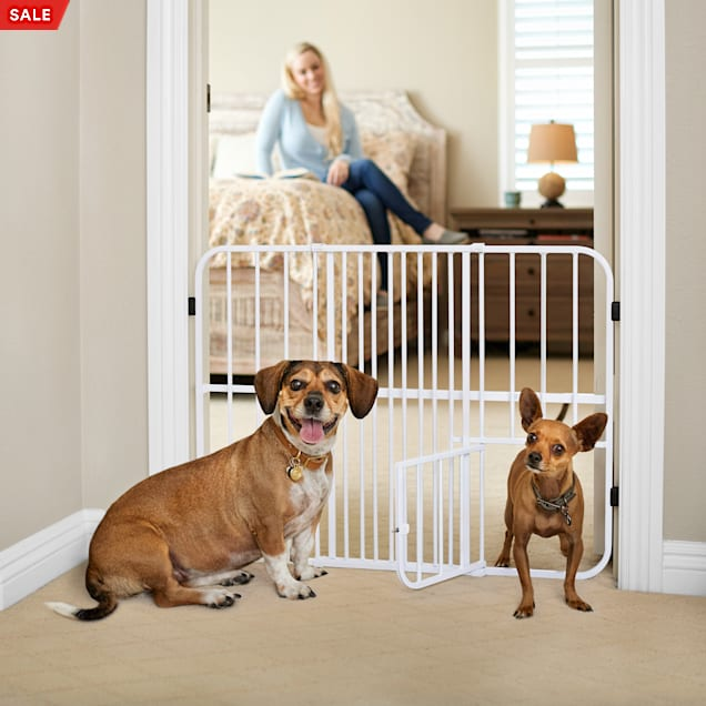 """You & Me Easy-Fit Tuffy Expandable Pet Gate, 26""""-42"""" W x 24"""" H - Carousel image #1"""