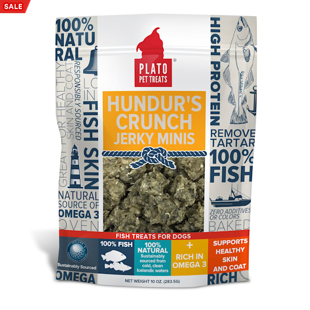 Plato Pet Hundur's Crunch Jerky Minis Dog Treats, 10 oz. - Carousel image #1