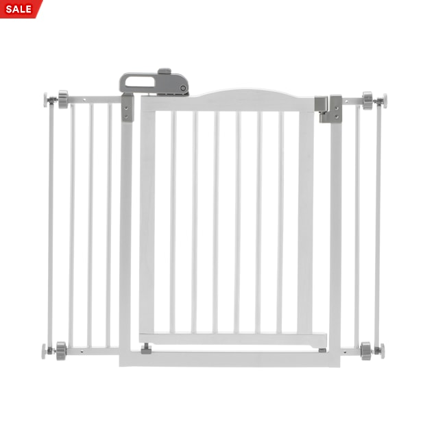 """Richell One-Touch White Pet Gate II, 36.4"""" x 30.5"""" x 2"""" - Carousel image #1"""