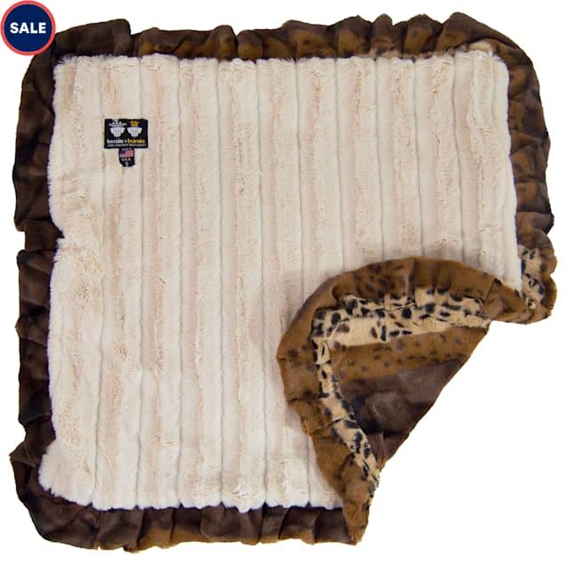 "Bessie & Barnie Luxury Ultra Plush Wild Kingdom Pet Blanket for Dogs, 36"" x 36"" - Carousel image #1"