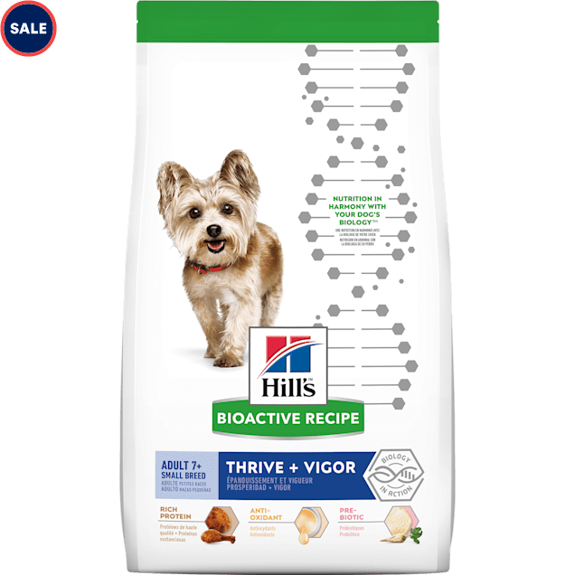 Hill's Bioactive Recipe Thrive + Vigor Chicken & Brown Rice Small Breed Adult Dry Dog Food, 11 lbs. - Carousel image #1