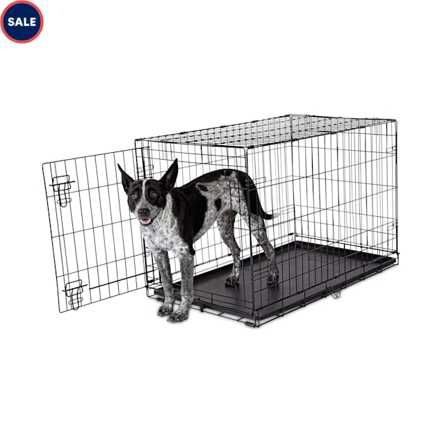 "Animaze 1-Door Folding Dog Crate, 36.5"" L x 23.2"" W x 24.7"" H - Carousel image #1"