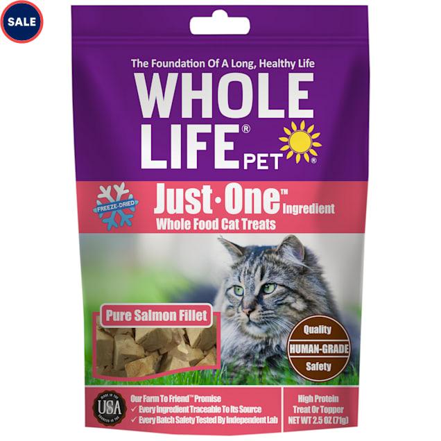 Whole Life Pet Just One Pure Salmon Freeze-Dried Cat Treats, 2.5 oz. - Carousel image #1