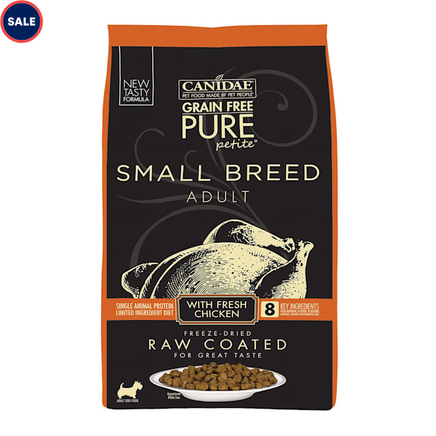 Canidae PURE Grain Free Petite Small Breed Limited Ingredient Diet Raw Coated with Fresh Chicken Dry Dog Food, 10 lbs. - Carousel image #1