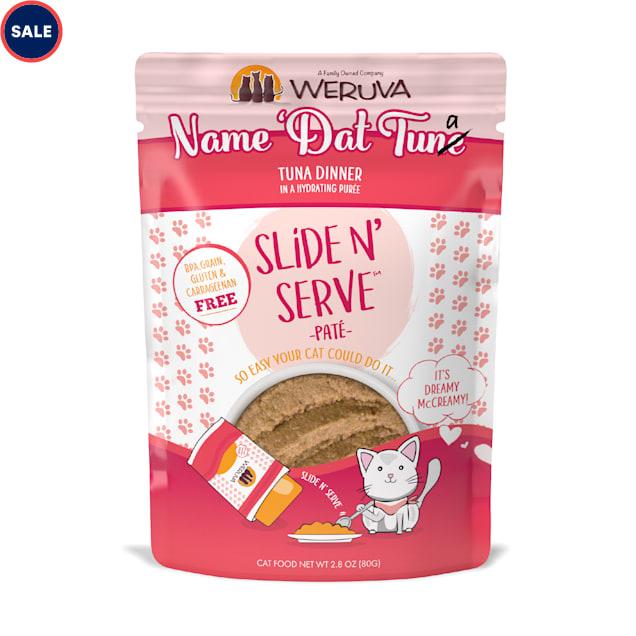 Weruva Pate Name 'Dat Tuna Tuna Dinner in a Hydrating Puree Wet Cat Food, 2.8 oz., Case of 12 - Carousel image #1