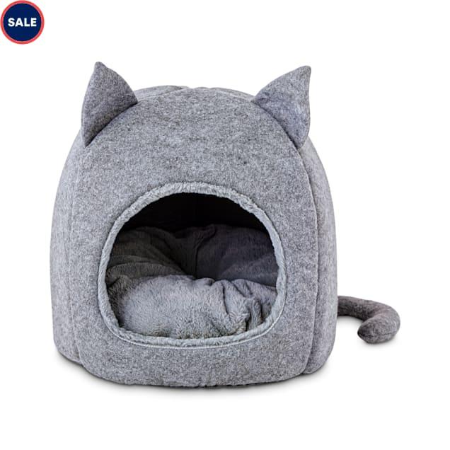 "Harmony Fellow Feline Hooded Igloo Cat Bed, 15.5"" L x 15.5"" H - Carousel image #1"