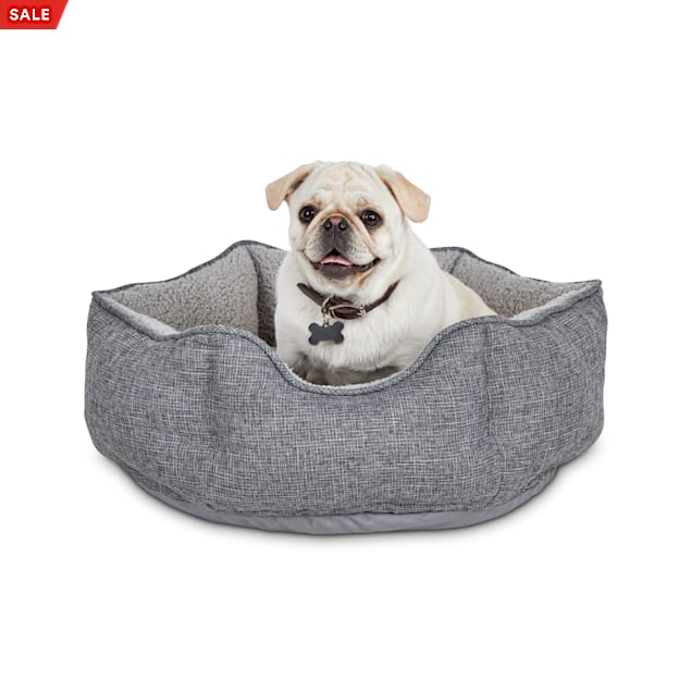 """Harmony Cozy Cottage Gray Hexagon Nester Dog Bed, 22"""" L X 22"""" W X 7"""" H - Carousel image #1"""