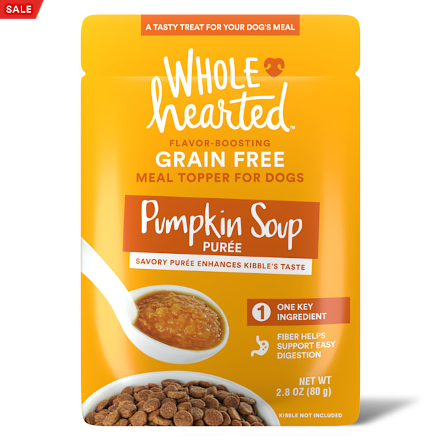 WholeHearted Pumpkin Soup Puree Dog Meal Topper, 2.8 oz., Case of 6 - Carousel image #1