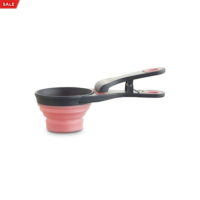 Harmony Pink 3-in-1 Food Scooper for Dogs, 0.5 Cup - Carousel image #1