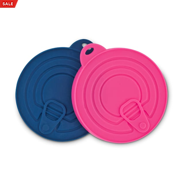 Harmony Pink and Navy Rubber Can Lids, Pack of 2 - Carousel image #1
