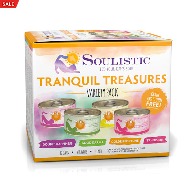 Soulistic Original Recipes Tranquil Treasures Variety Pack Wet Cat Food, 3 oz., Count of 12 - Carousel image #1