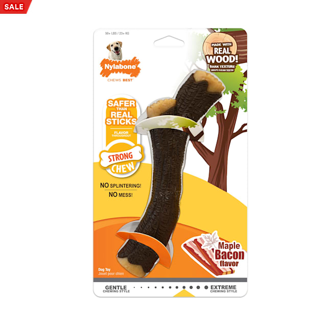 Nylabone Strong Chew Real Wood Stick Dog Toy, Large - Carousel image #1