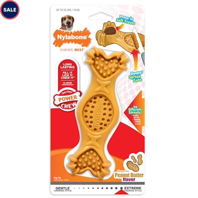 Nylabone Power Chew Spread & Treat Dog Toys, Medium - Carousel image #1