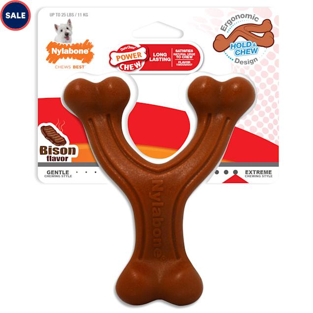 Nylabone Power Chew Wavy Wishbone Dog Toys, Small - Carousel image #1