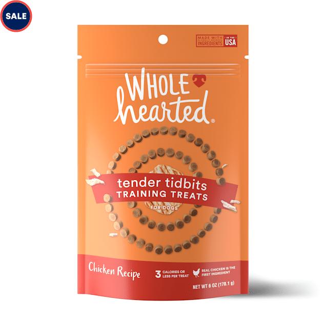 WholeHearted Grain-Free Tender Tidbits Chicken Recipe Dog Training Treats, 6 oz. - Carousel image #1