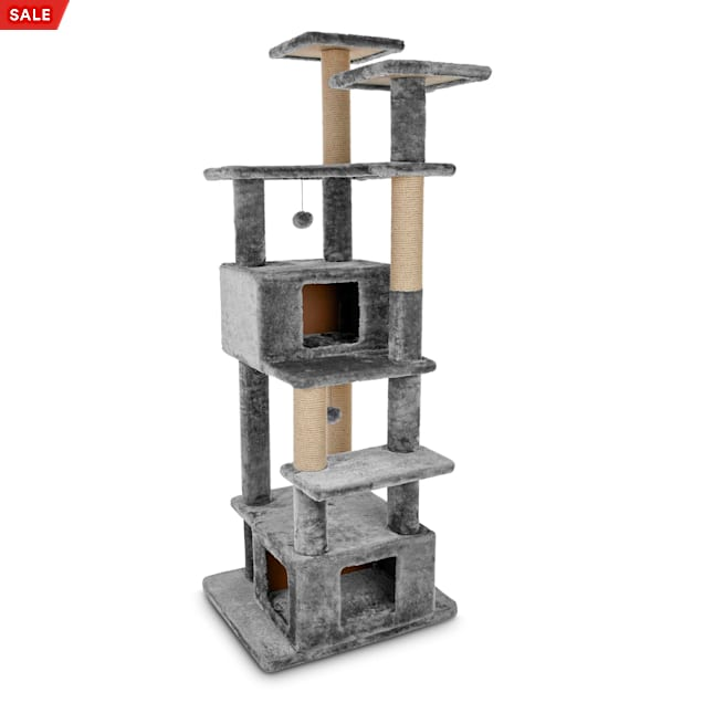 """You & Me Deluxe Clubhouse 7-Level Cat Tree, 74.5"""" H - Carousel image #1"""