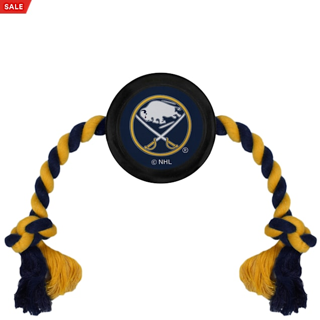 Pets First Buffalo Sabres Hockey Puck Toy for Dogs, X-Large - Carousel image #1
