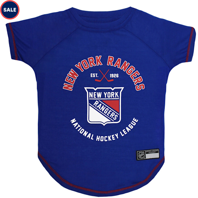 Pets First New York Rangers Dog T-Shirt, X-Small - Carousel image #1