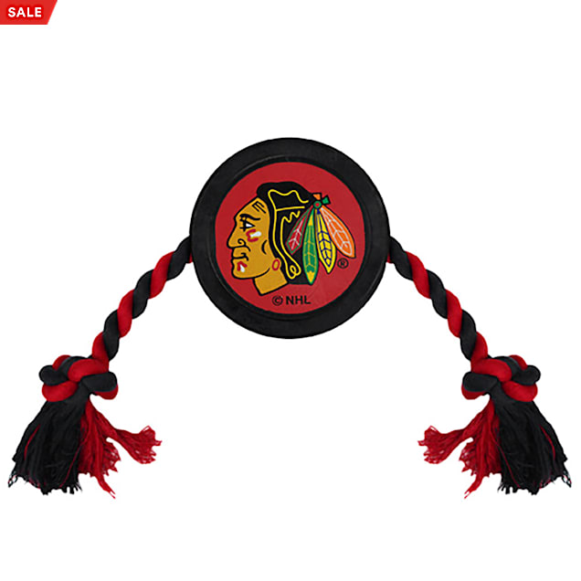 Pets First Chicago Blackhawks Hockey Puck Toy for Dogs, Large - Carousel image #1